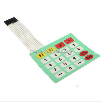 New 4*5Matrix Array/Matrix Keyboard 20 Key custom Membrane Switch Keypad
