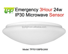 Led Emergency Light IP30-24W 3Hour Corridor Ceiling Motion Sensor Emergency Bulkhead Light