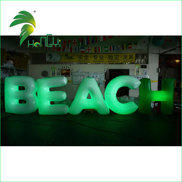 Advertising Custom Led Lighting Alphabet Letter Sign / Wedding Lighted Inflatable LED Letters for Merry Christmas