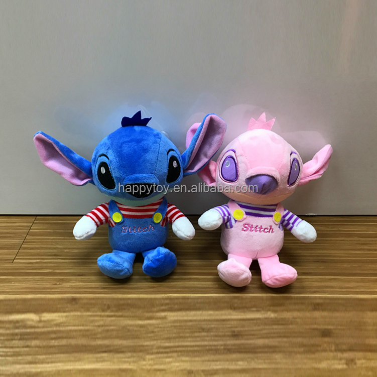 Cute Stuffed peluches Stitch plush toy custom movie cartoon character wholesale for crane machines