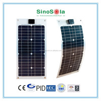Sinosola Solar The best high quality 100W Semi Flexible Solar Panel with TUV/PID/CEC/CE/CQC/ISO