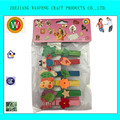 Fashionable wood Pegs Custom Printed Colored Clothespins with animal printed
