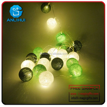 High quality Battery Operated Hard Cotton Ball Fairy Light for home decoration