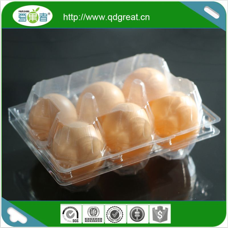 Factory Custom Printed Clear Plastic Egg Cartons