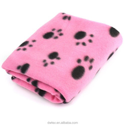 Lovely Dog Blankets With Paw Prints Fleece Fabric Cat Blanket