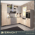 2017 Hot sale I shape modular kitchen design with a big island