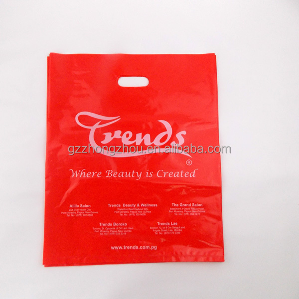 Cheap custom printed machine made shopping plastic bags