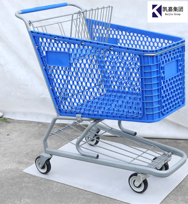 High Quality 165L plastic shopping cart