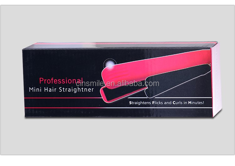 Personalized Popular Hair Straightener mini small hair straightner pink color JD-168