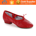 wholesale popular design pink leather ballet shoes