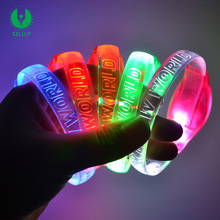 2018 New Year Party Music Sound Activated Flashing Concert LED Light Bracelet, Light Up Bracelet, Led Wrist bands