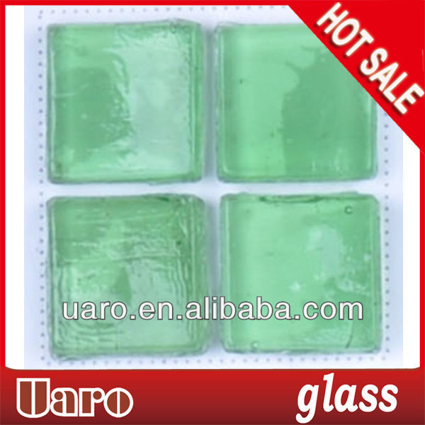 Upscale decorative material crackle glass turquoise glaze mosaic tile