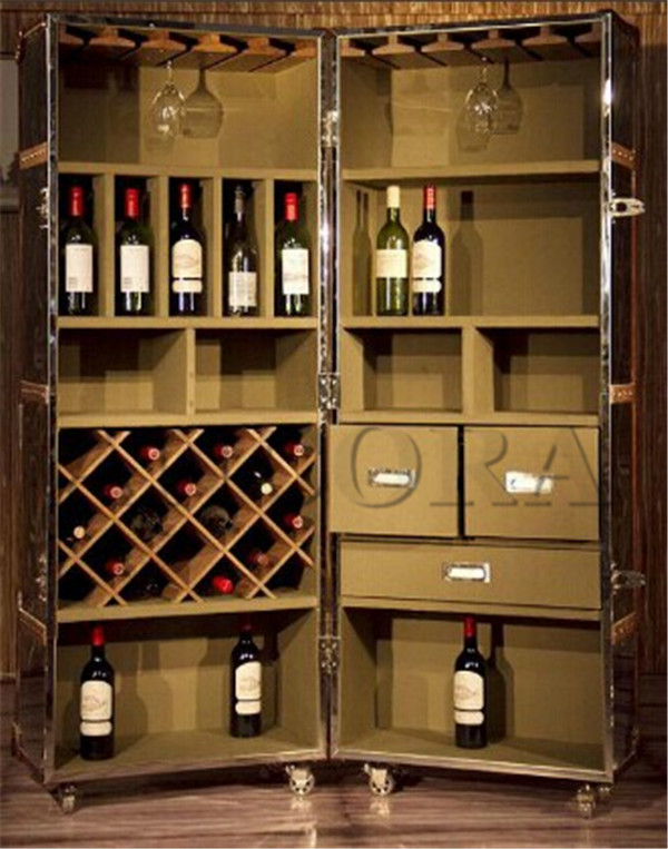 industrial living room furniture wine cabinet L887
