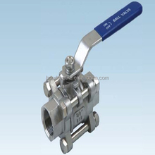 Female thread connection Bsp / Npt screw high quality and best price stainless steel inline ball valve