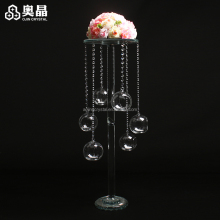Good quality wedding favors centerpeices crystal flower stand for party decoration