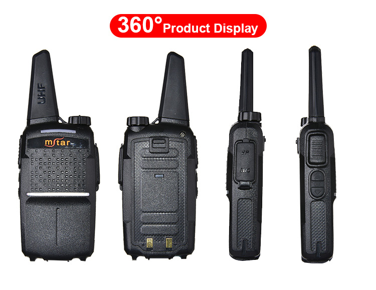 Palm Handheld Two-way Radio 136-174mhz Mstar MX66 Walkie Talkies