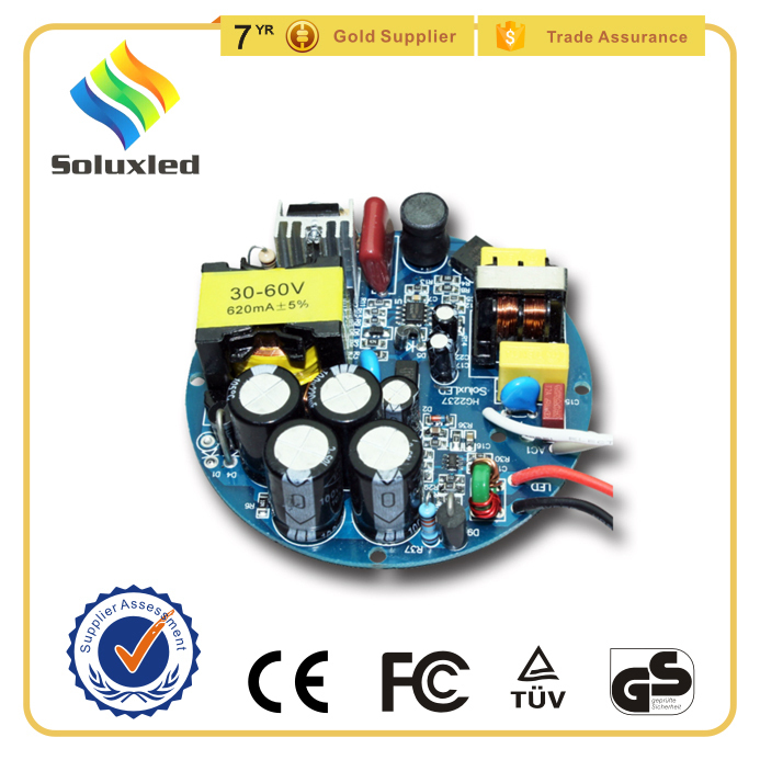 Round Constant Current Led Driver 40WCOB 1200mA For E27 Light 3 Years Warranty CE Approved