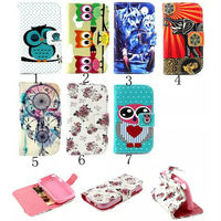 Color print animal/flower flip pu leather case for lg l70 cover case