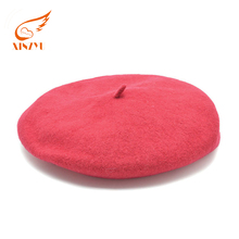 Custom Logo Girls Wool Felt Red Beret Fashion Decorate High Quality Design Beret Hat For Woman