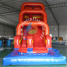 Pvc Tarpaulin 30 Ft Red Arch Way Used Inflatable Water Pool Slide For Sale