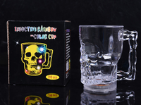 LED Light Cup Skull Cup 400ml Luminous Led Flashing Beer Mug Skull Cup