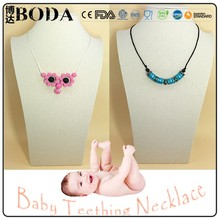 Silicone Chewable Necklace Wholesale/Food-safe Baby Enjoy Bead Necklace Kean Design