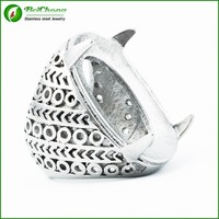 Beichong brand wholesale stainless steel jewelry indonesia titanium silver mens ring blanks