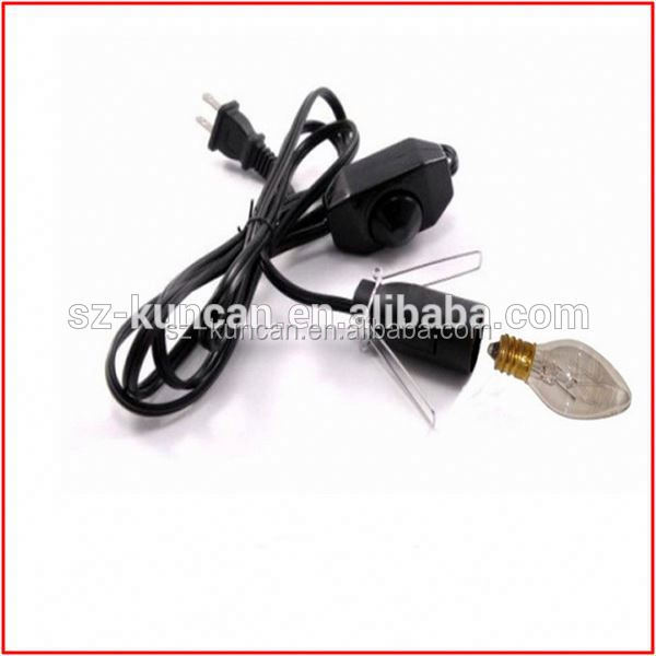 China wholesale wholesale lamp cord set salt lamp power cord,2-Prong US AC Power Plug for Lighting KC--97