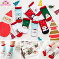 2017 Best Holiday Baby Gift Snowflake Deer Non-slip Kids Ugly Christmas Non Slip Floor Socks