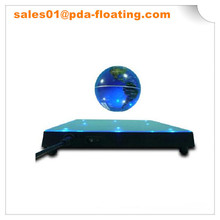 Levitation lighted globe of the world ABS base with Mirror and 8pcs white or blue LED lights