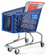 100L plastic shopping cart