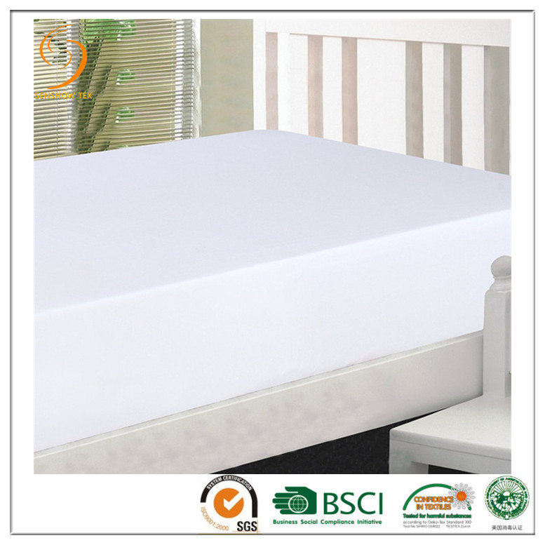 wholesale cheap jersey fitted bed sheet 100% polyester