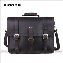 Hand Shell Child Men Genuine Leather Business Fingerprint Lock Briefcase