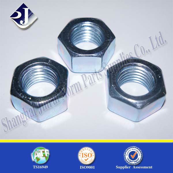 gr8 with TS16949 ISO9001 BZP fine thread hex nut