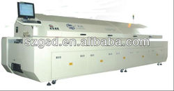 GSD-L8 large size eight zones SMT CFL soldering oven cost, To be the best manufacturers in china