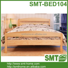 modern solid wood double bed furniture With Drawers On Both Sides