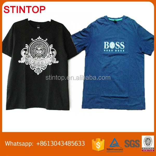Alibaba China factory used t-shirt clothing