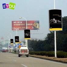 Street lamp pole human billboard advertising led display