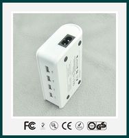 4 port usb smart travel charger for IPad IPhone with UL FCC CE certificates