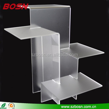 wholesale hot sale clear acrylic shaped acrylic book stand