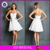 2014 Simple Modern Flowing Chiffon Sexy White Short Cocktail Dresses Girls