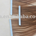 100% human hair in extension 10A quality tape hair weft