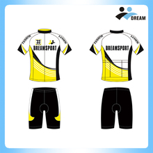 DREAM SPORT Custom Fashion breathable quick dry cycling team jersey with bib shorts