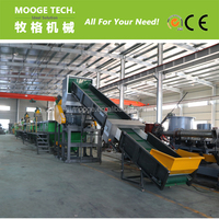 Waste PE Film/PP woven bags/plastic crushing washing recycling plant