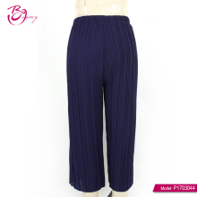 New Design Long Polyester Knitted Fabric Women Casual Pants