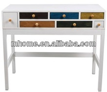 MHOME white study table with drawers wholesale