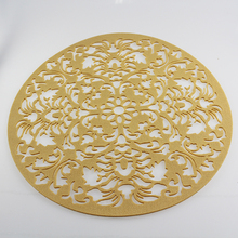 wholesale laser cut round 38cm felt placemat hot selling in Amazon