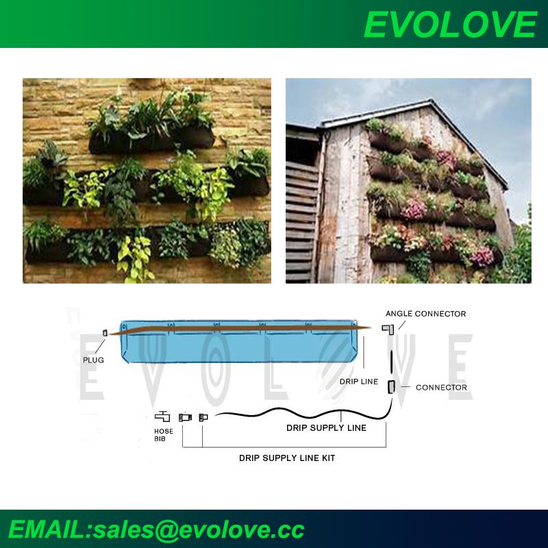 Evolove jard n paredes verdes jard n vertical con sistema for Sistema riego jardin vertical