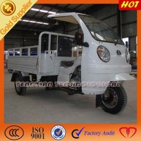 three wheel motorcycle/Chinese big cargo tricycle/3 wheeler cargo with ABS cabin
