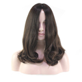 14inches Big Layer European Virgin Hair Highlight Color #2/4 Customized Jewish Kosher Wig